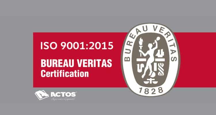 Actos, uma Empresa com Certificação ISO 9001