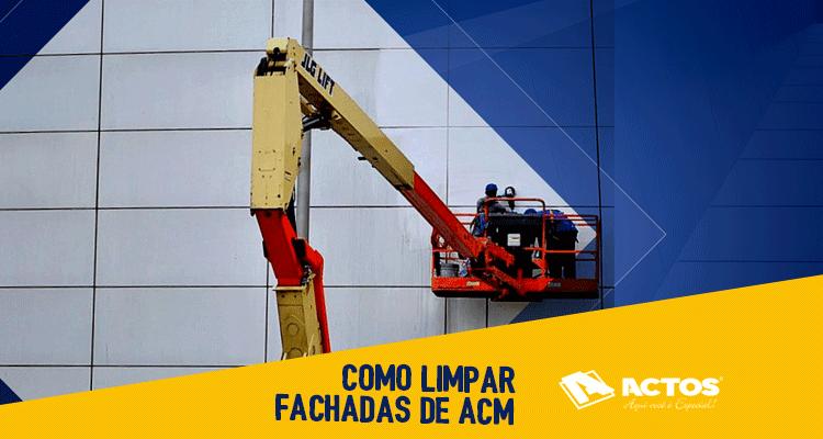 Como limpar fachadas de ACM