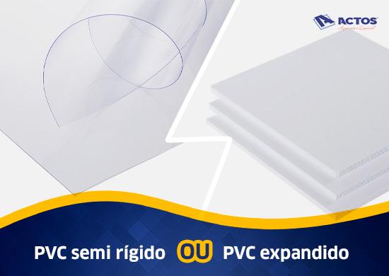 chapas de pvc semi rígidas ou pvc expandido